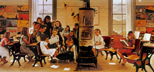 Norman-Rockwell-Visits-A-COUNTRY-SCHOOL-1