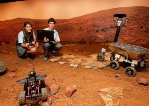 Robots in the Mars Mission visit experience Image: MAAS