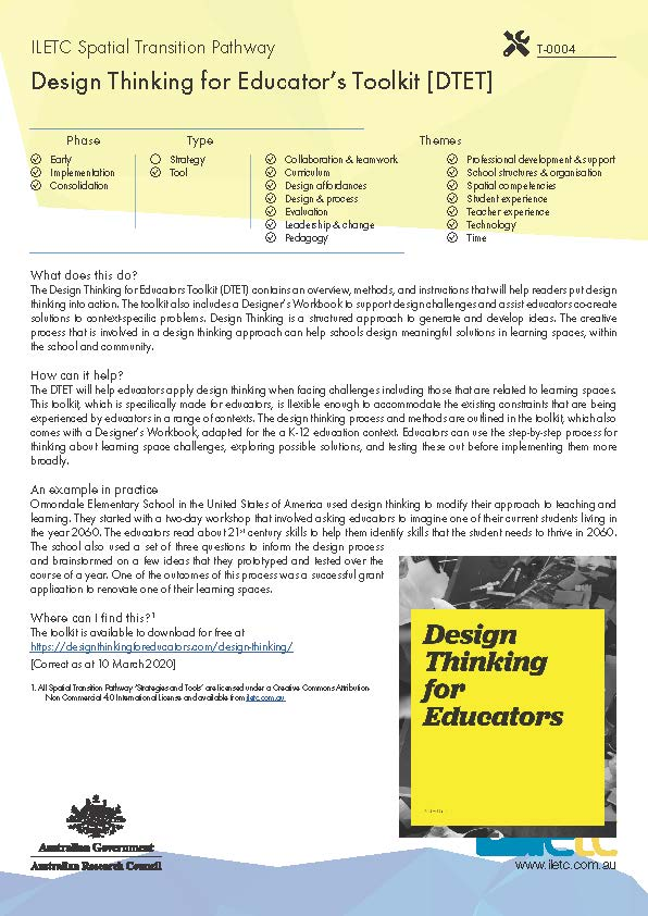 Design Thinking for Educator's Toolkit [DTET] Image