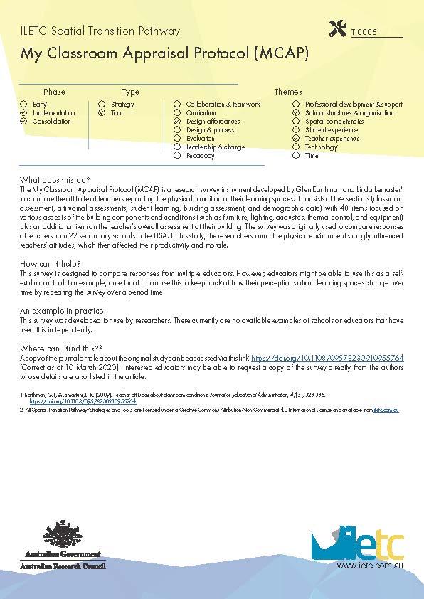 My Classroom Appraisal Protocol (MCAP) Image