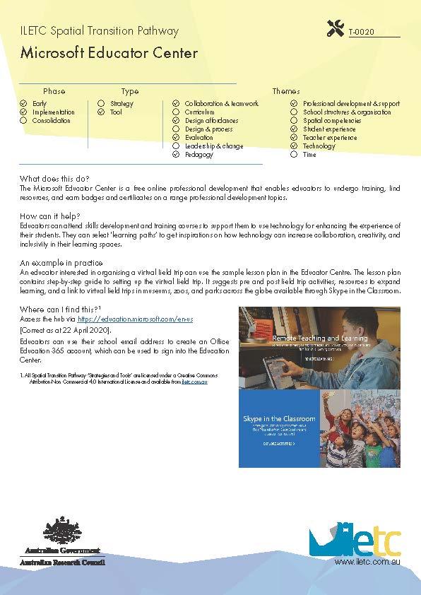 Microsoft Educator Center Image